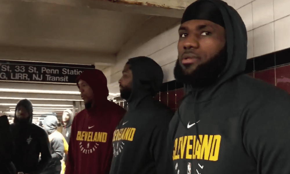 LeBron James Infuriates Commuter As Cleveland Cavaliers Ride New York Subway