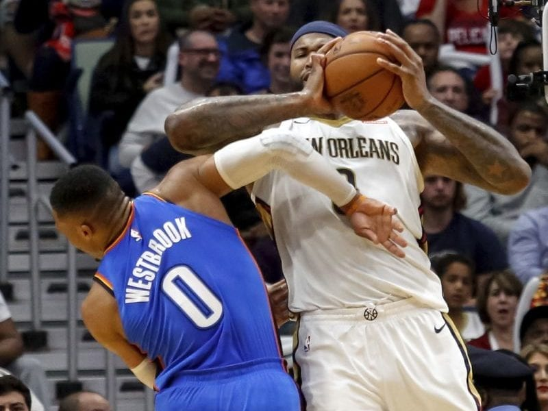 Pelicans Players Defend DeMarcus Cousins After He Elbowed Russell Westbrook In The Head