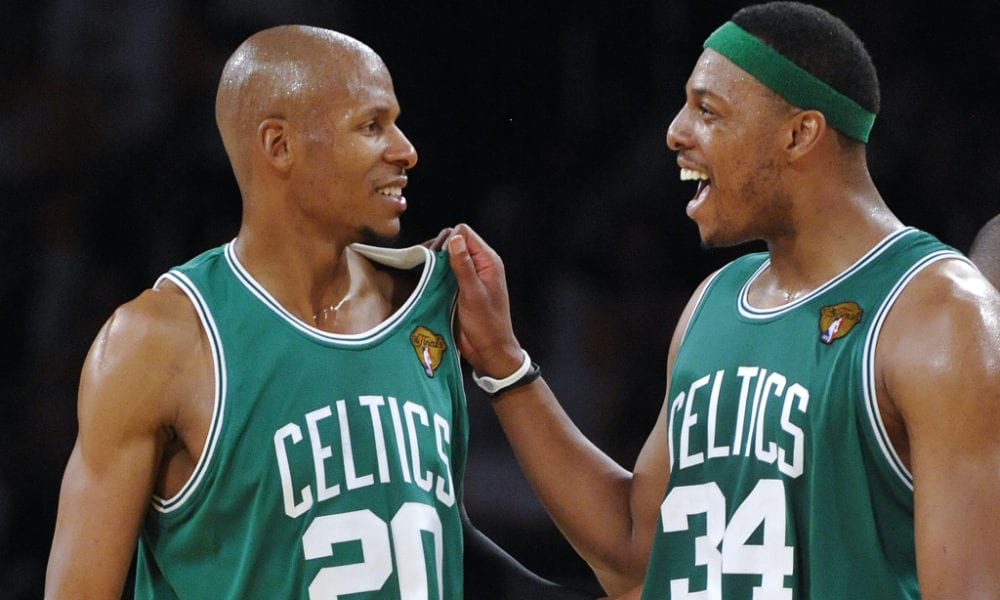 Ray Allen Congratulates Paul Pierce After Skipping Jersey Retirement To Play Golf