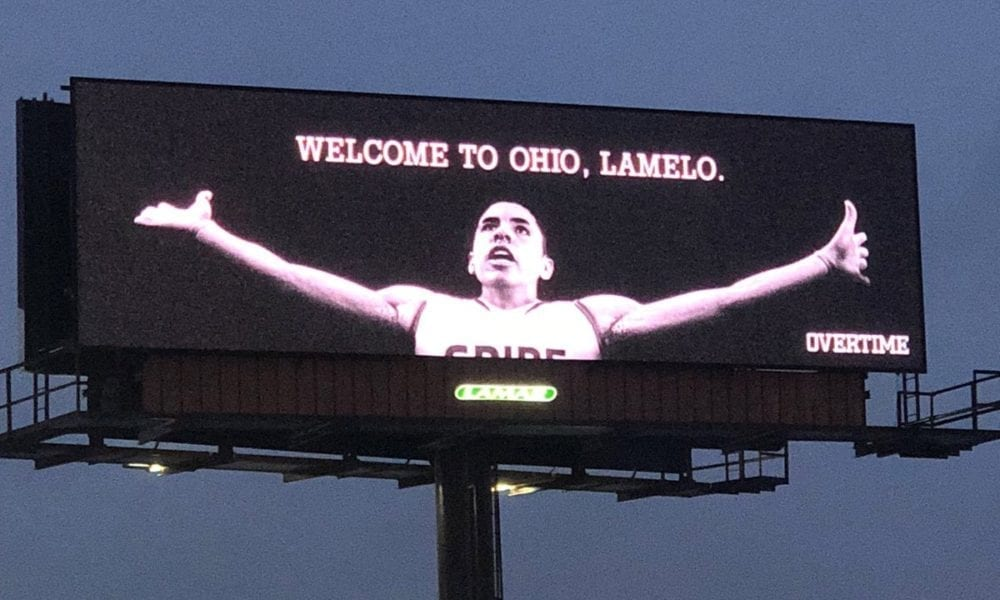 LaMelo Ball Gets LeBron-Style Billboard Near Cavs Arena