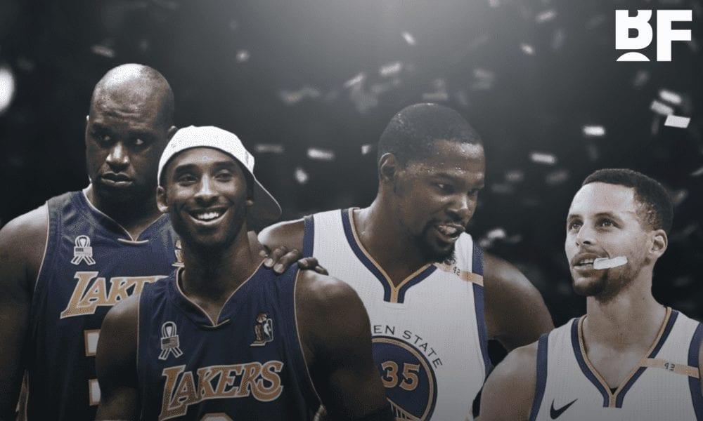 shaq lakers warriors basketball forever
