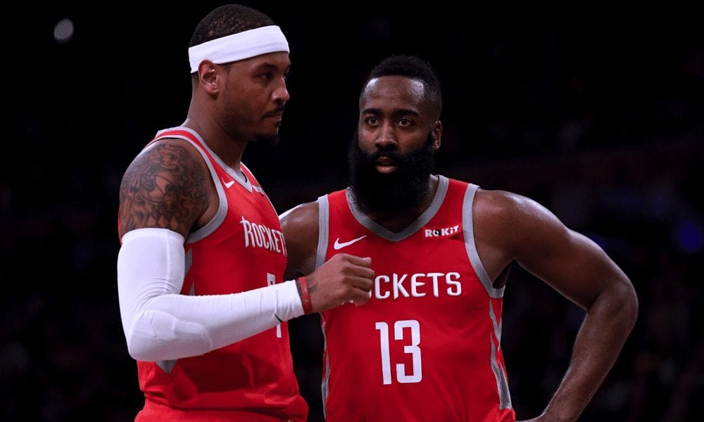 James Harden Says Carmelo Anthony Deserves Another Chance