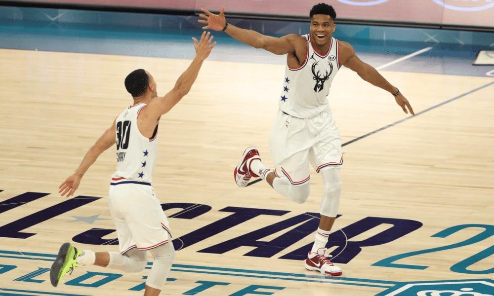nba all-star game steph giannis basketball forever