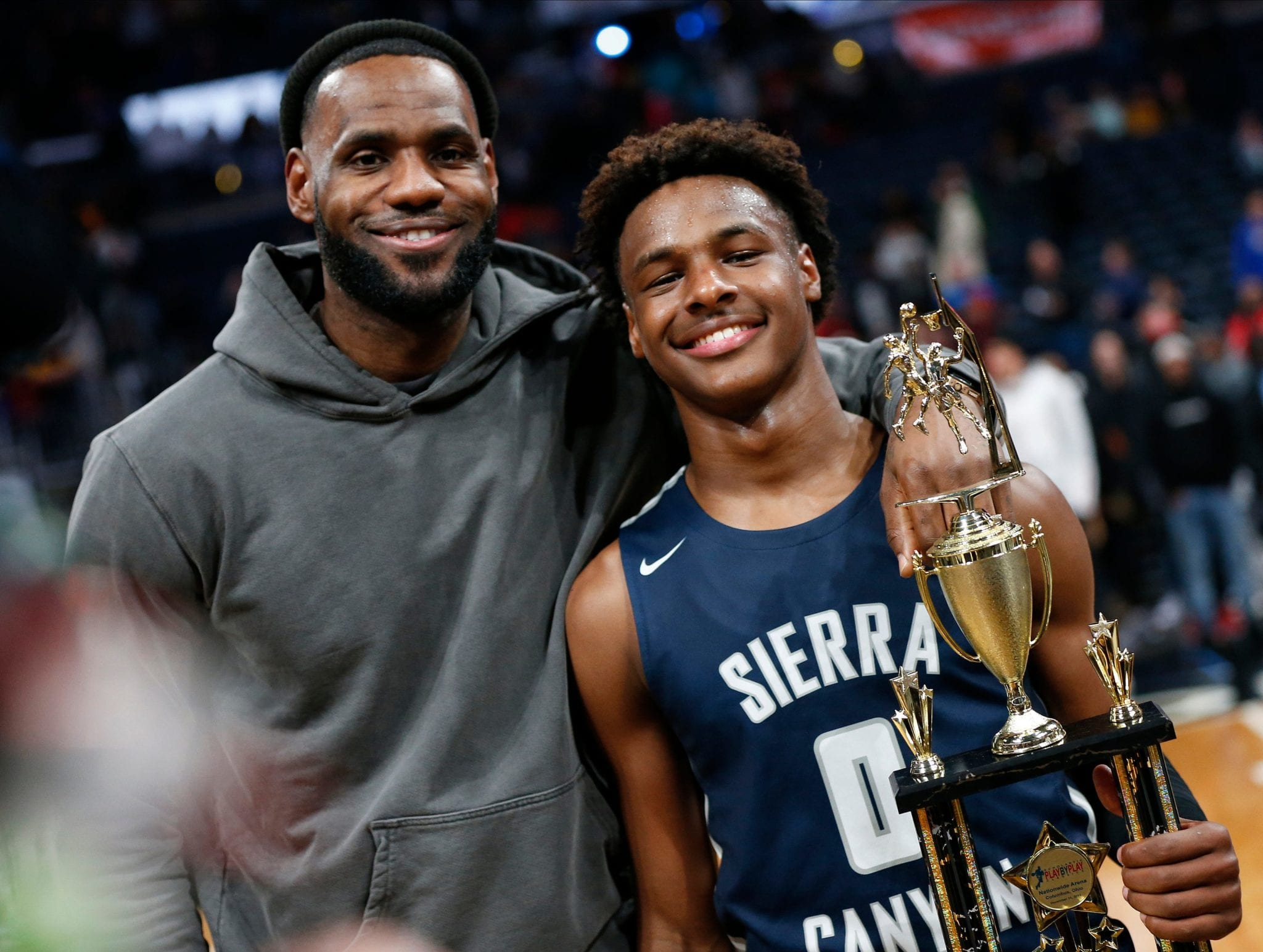 bronny james height weight age