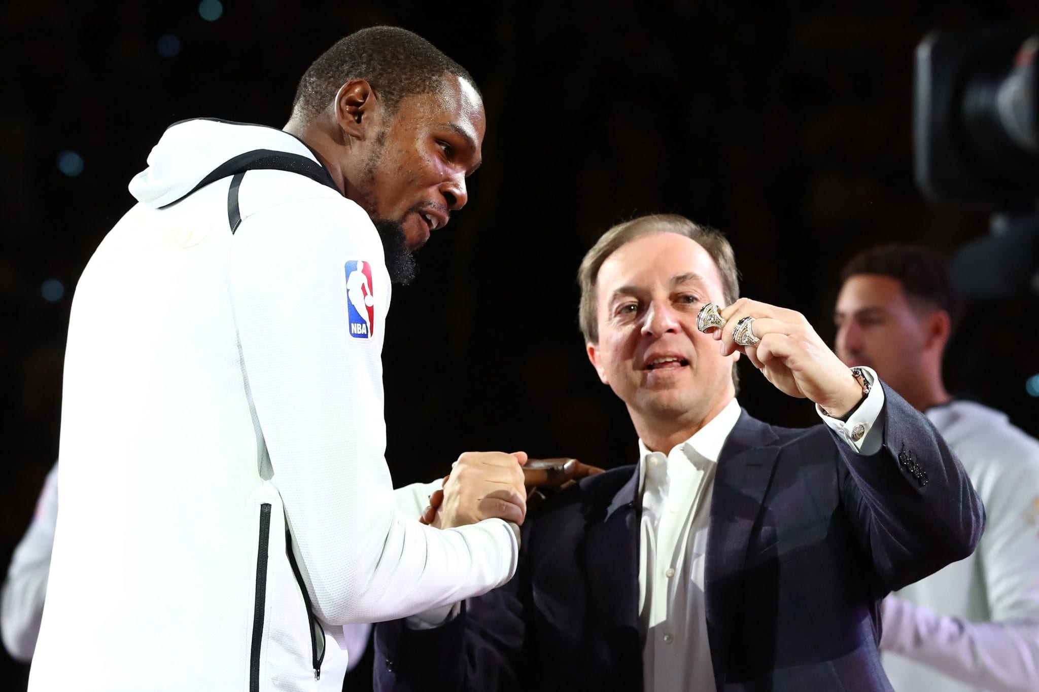Kevin Durant and Warriors Owner