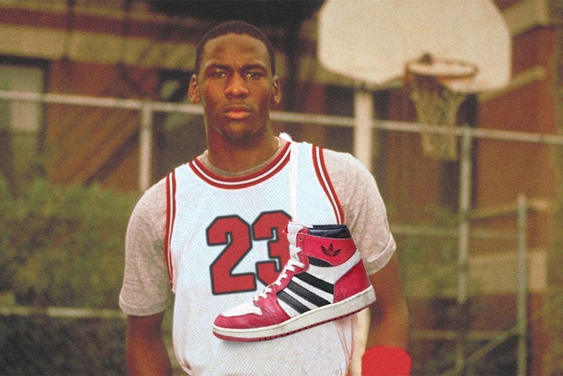 michael jordan adidas nike shoe deal