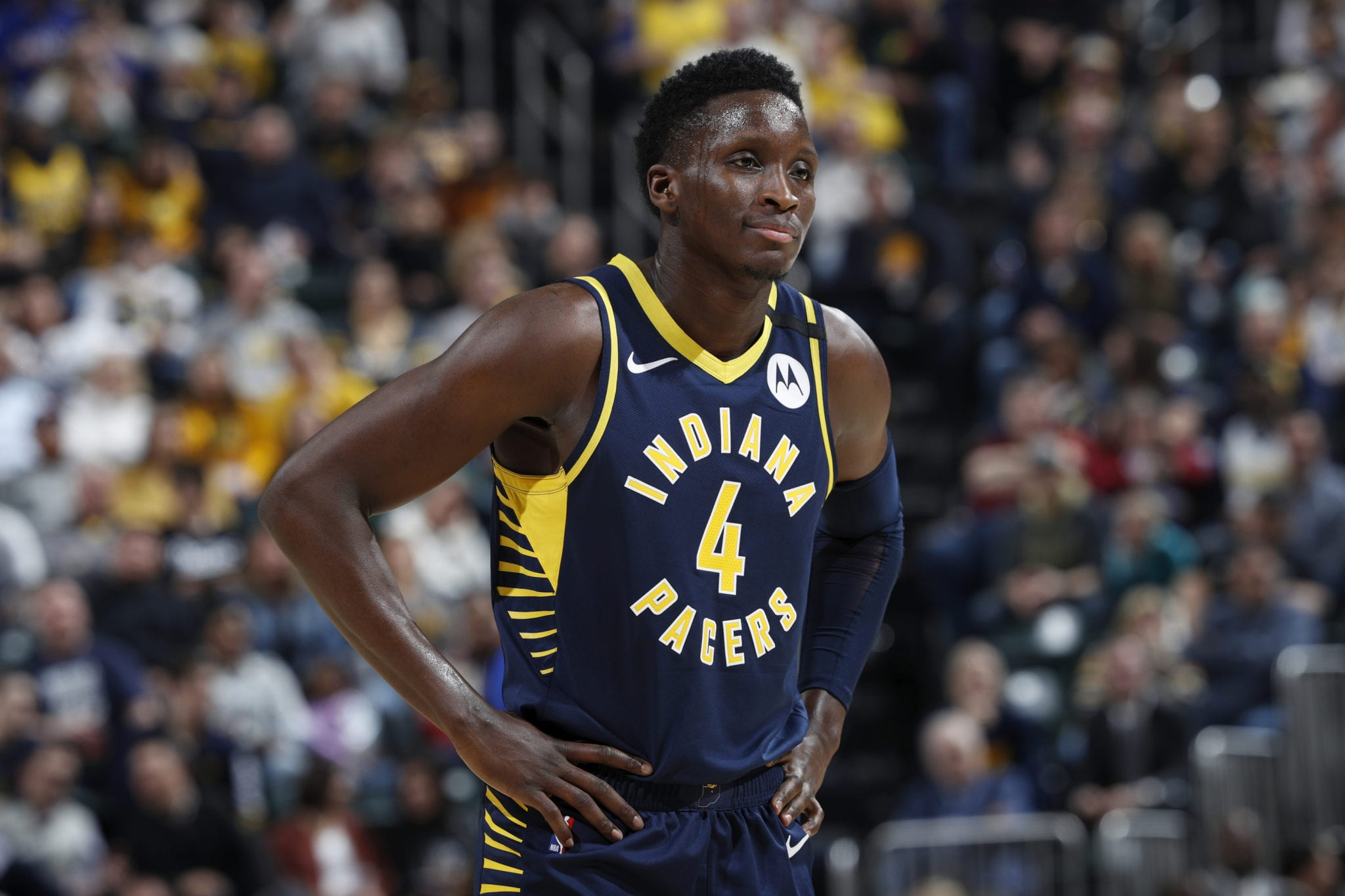 Victor Oladipo Suffers Eye Injury in Loss to Miami
