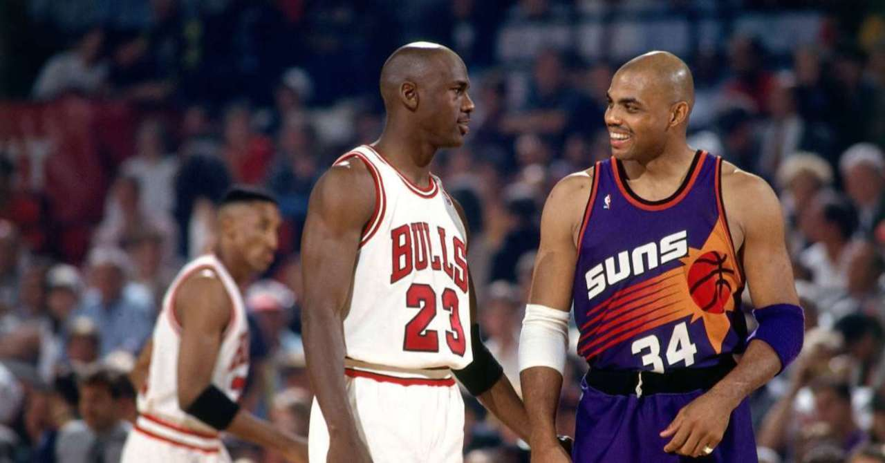 Charles Barkley and Michael Jordan as opponents