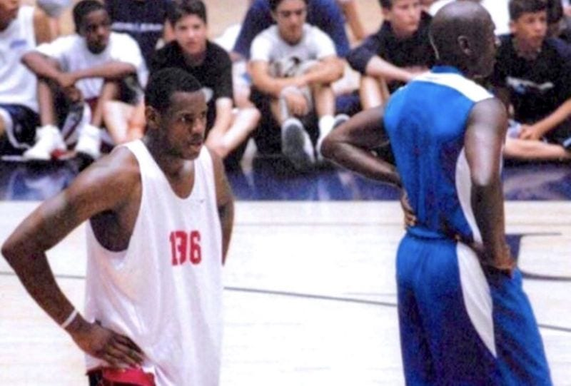 lebron james michael jordan scrimmage game