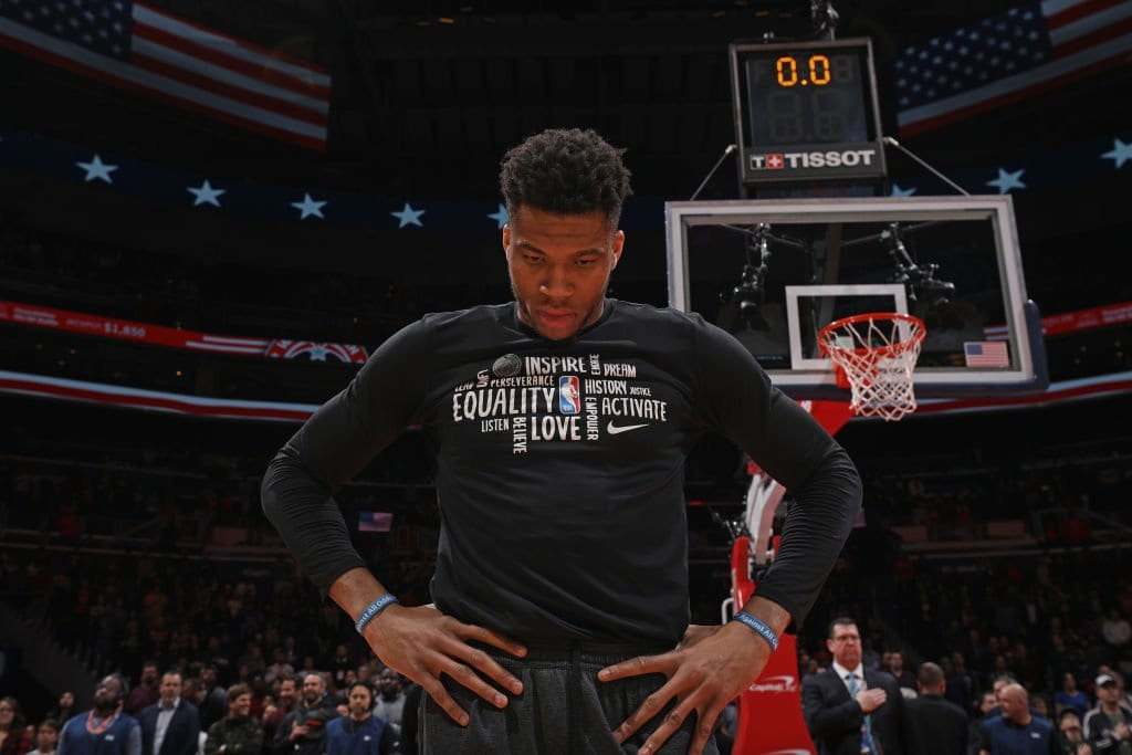 Giannis Antetokounmpo Joins Peaceful Protest In Milwaukee