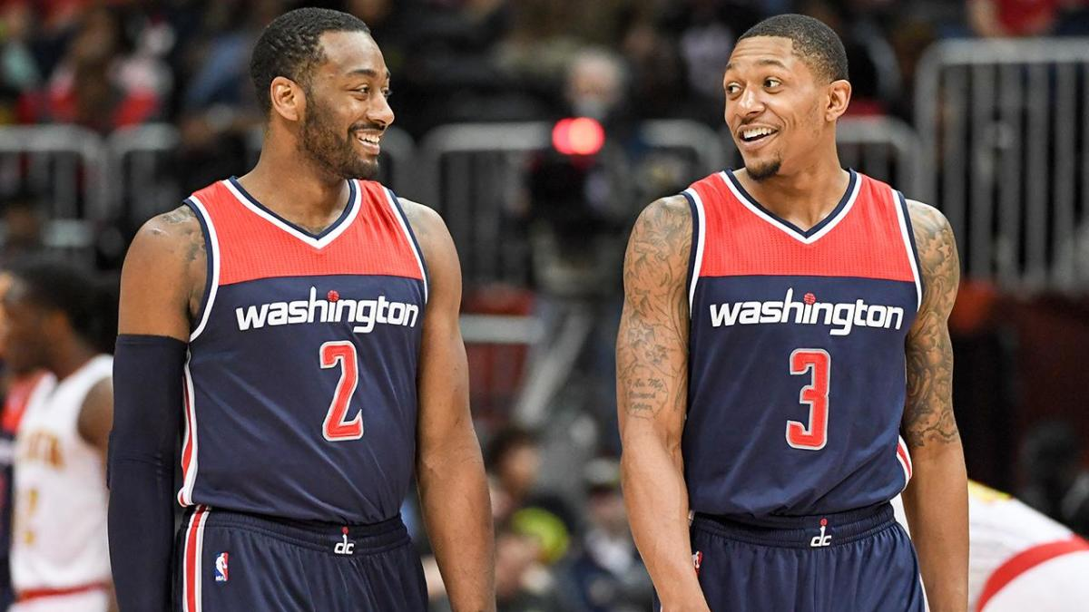 John Wall and Bradley Beal of the Wizards