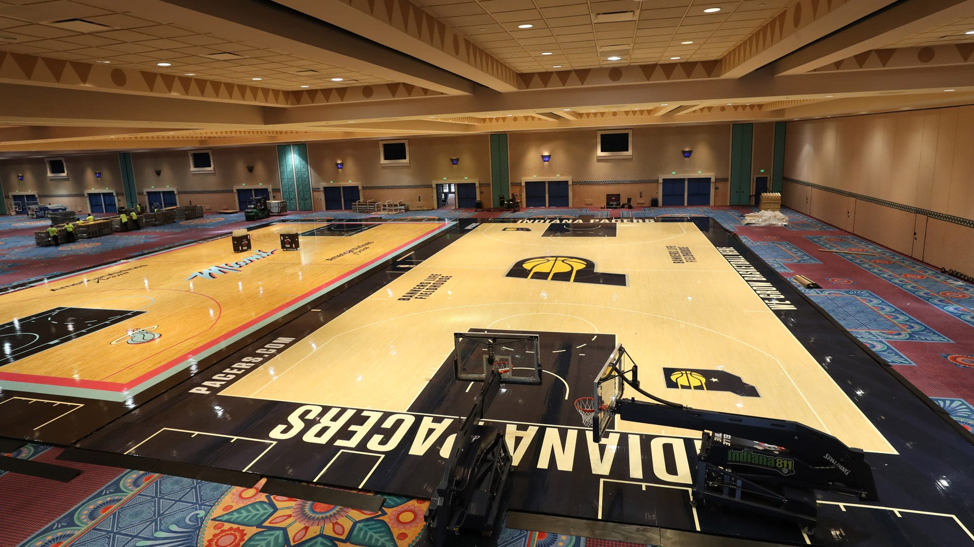 Practice court at the NBA bubble