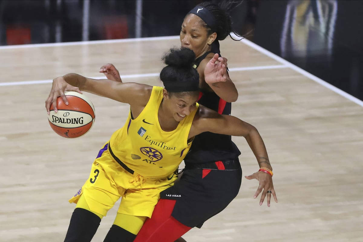 Candace Parker and A'Ja Wilson