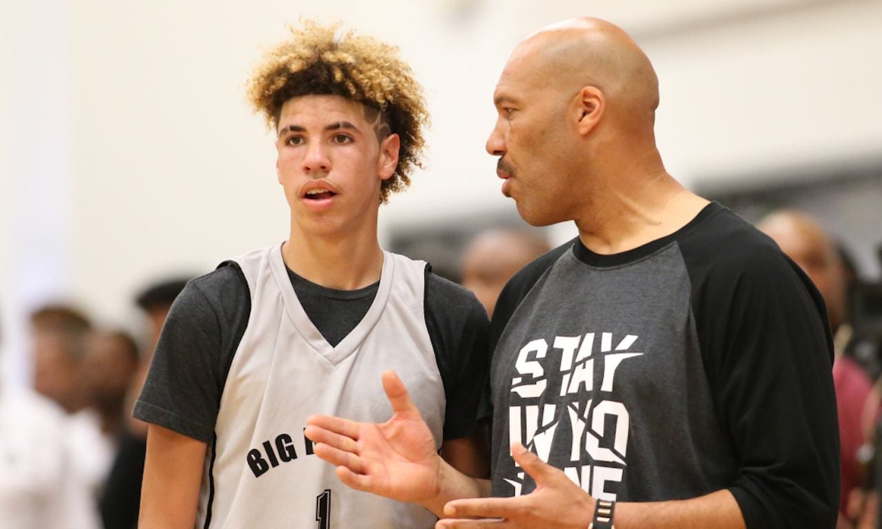 LaVar Ball and his son LaMelo Ball