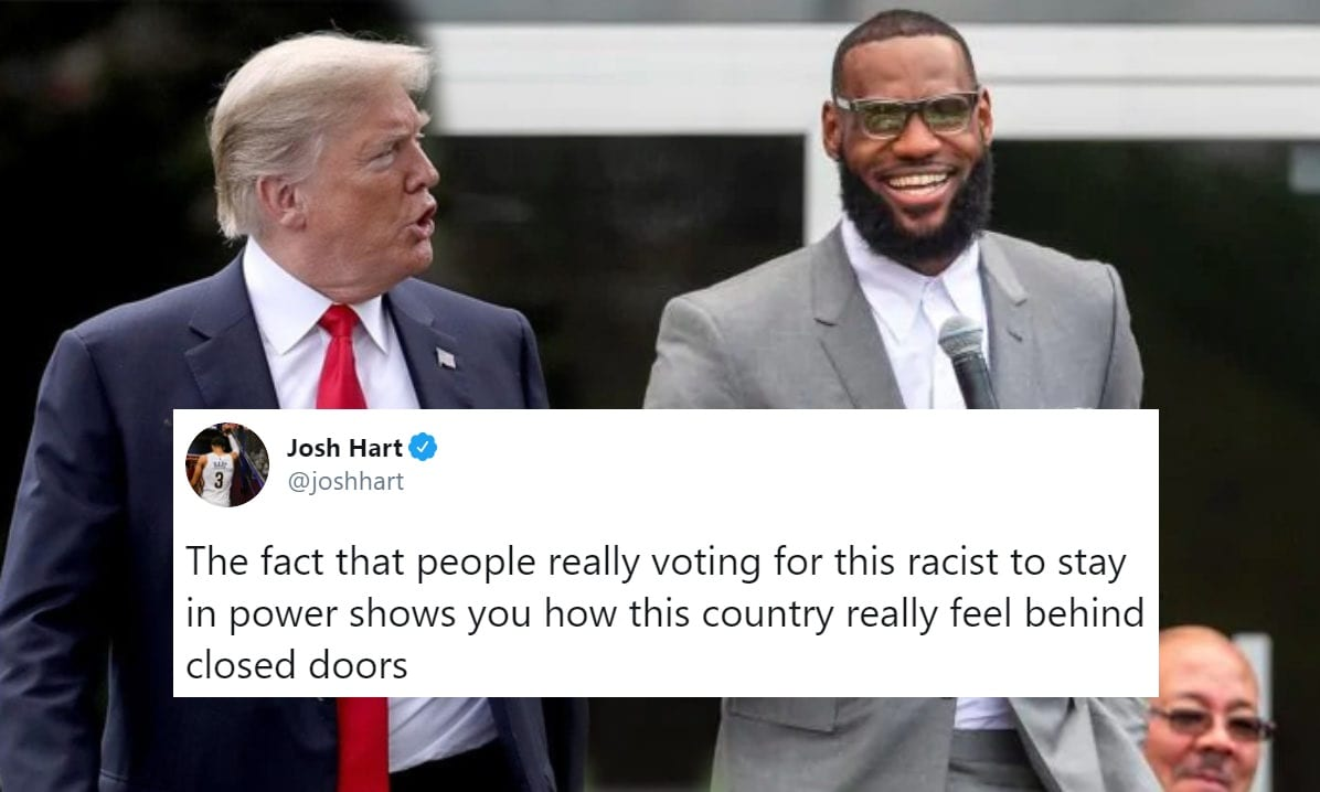 NBA Players React to Chaotic US Election