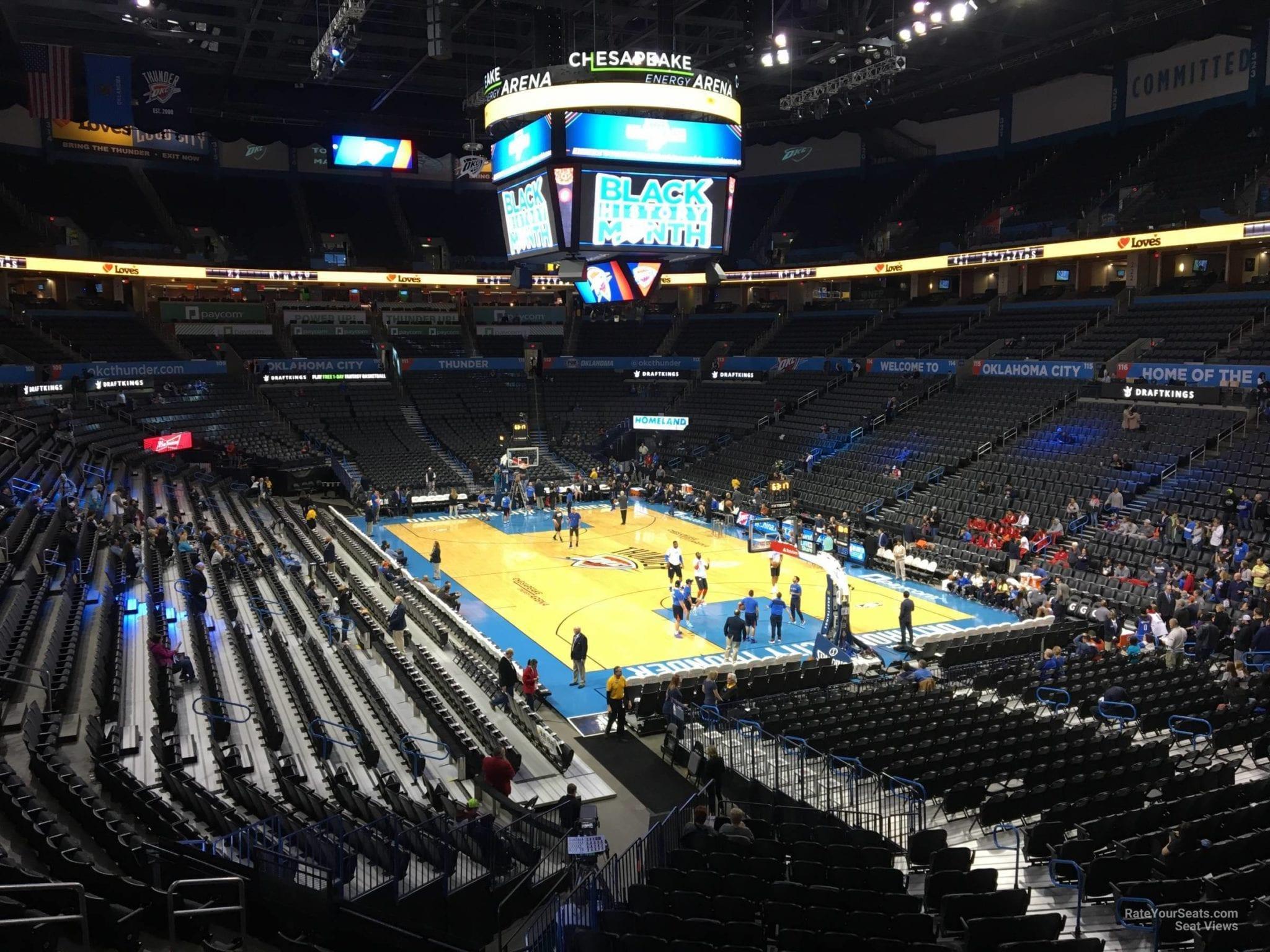 Oklahoma City Thunder arena Chesapeake Energy Arena