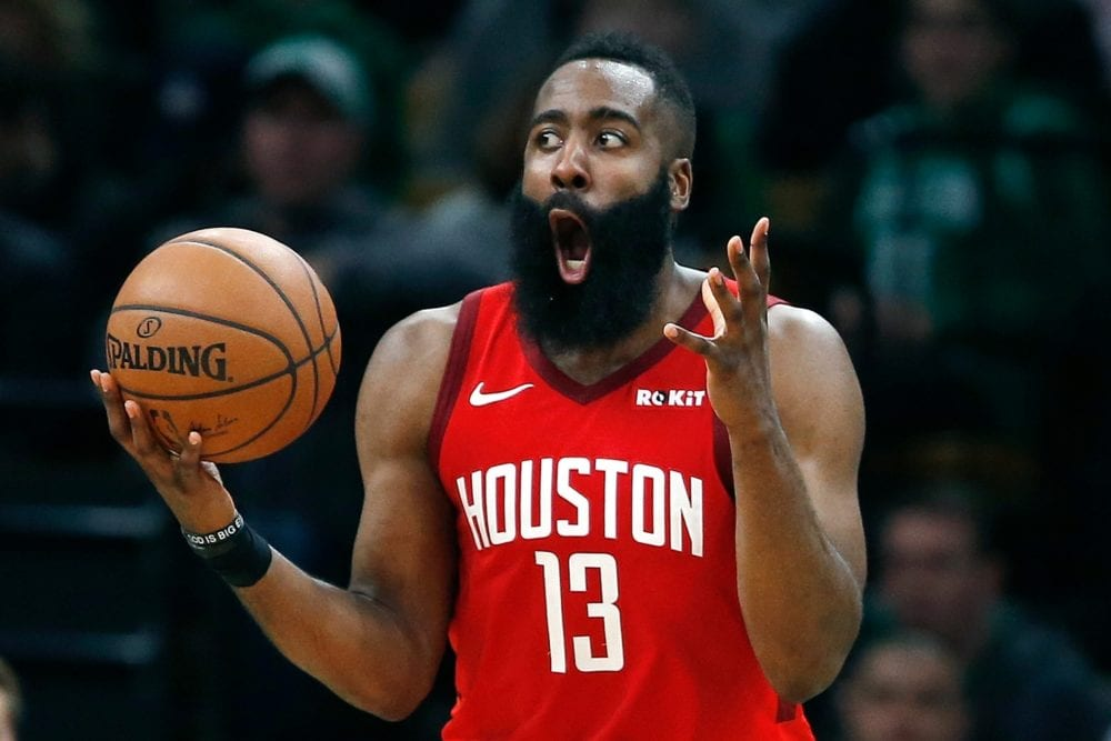 James Harden of the Rockets