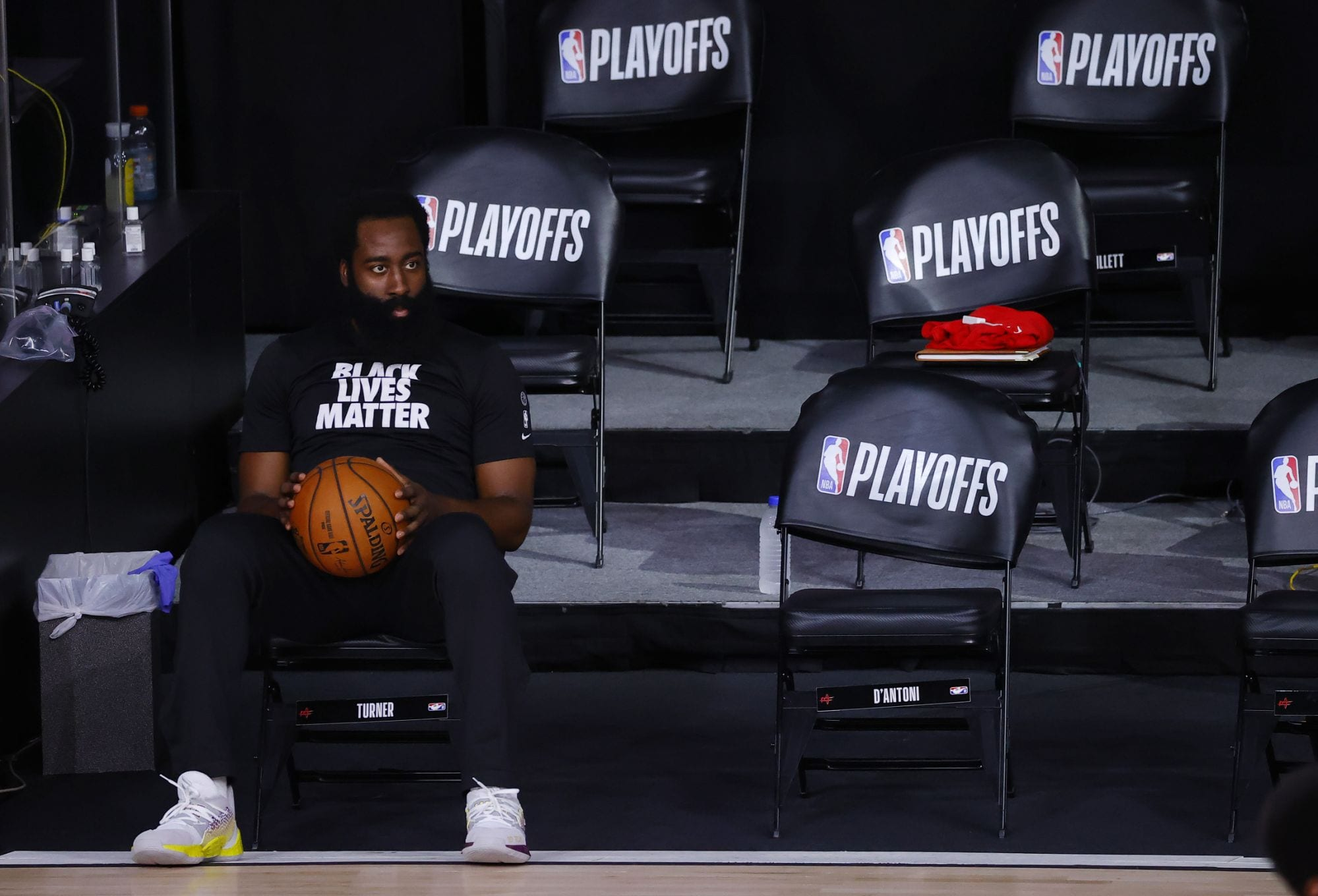 James Harden And New Coach Stephen Silas Have 'Good Conversation' At Rockets' Practice