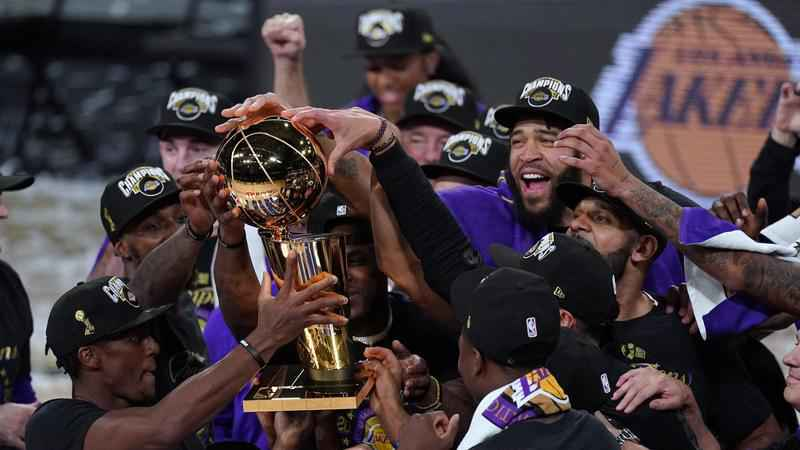 Los Angeles Lakers 2020 title team