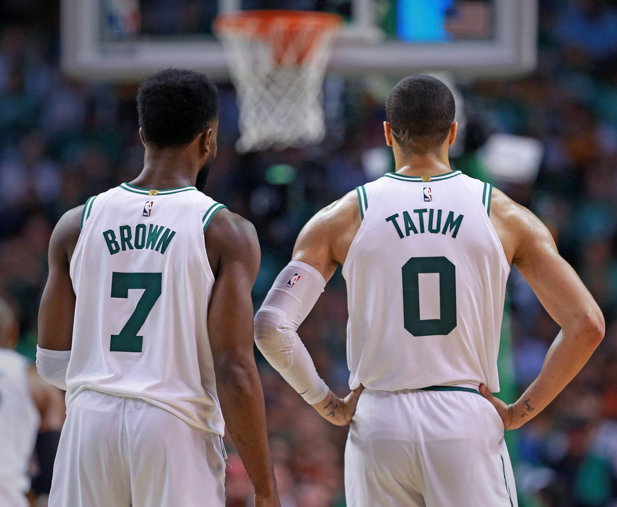 Jayson Tatum, Jaylen Brown Break Celtics Record in Season Opener