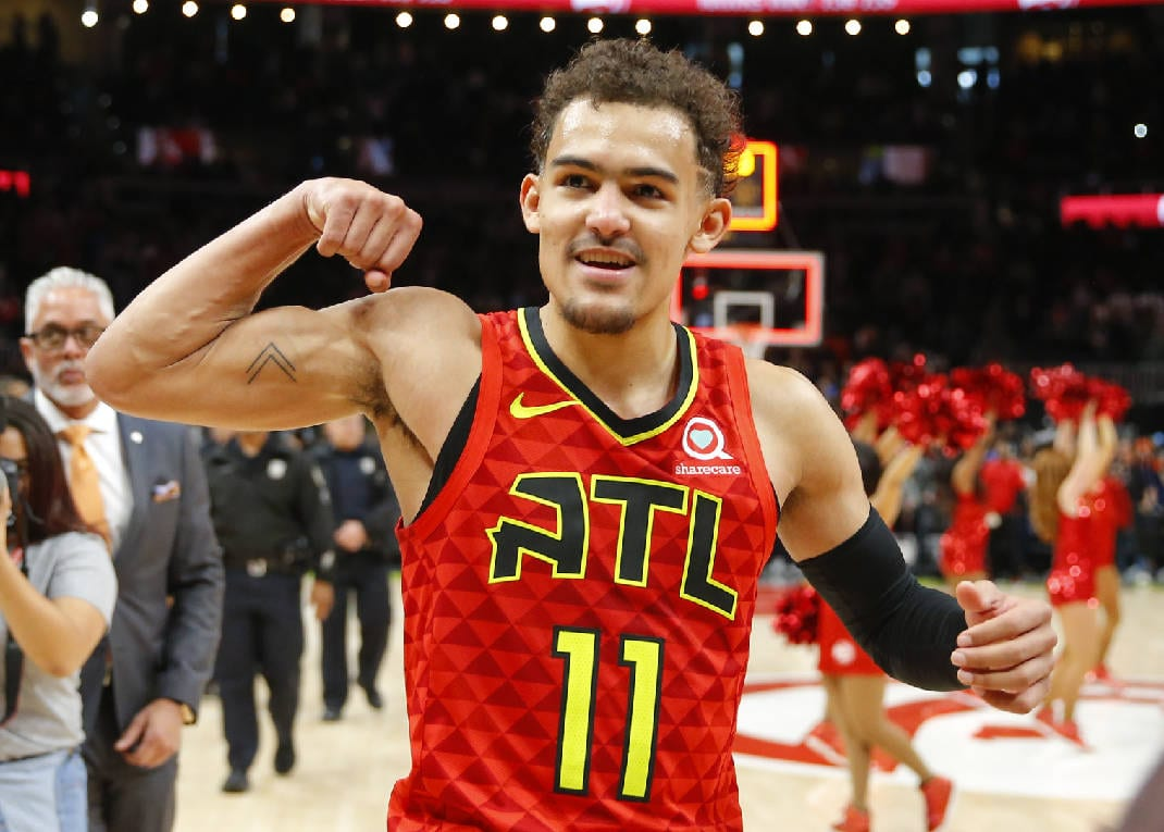 Trae Young and Grayson Allen Trade Barbs on Twitter After 'Trip'
