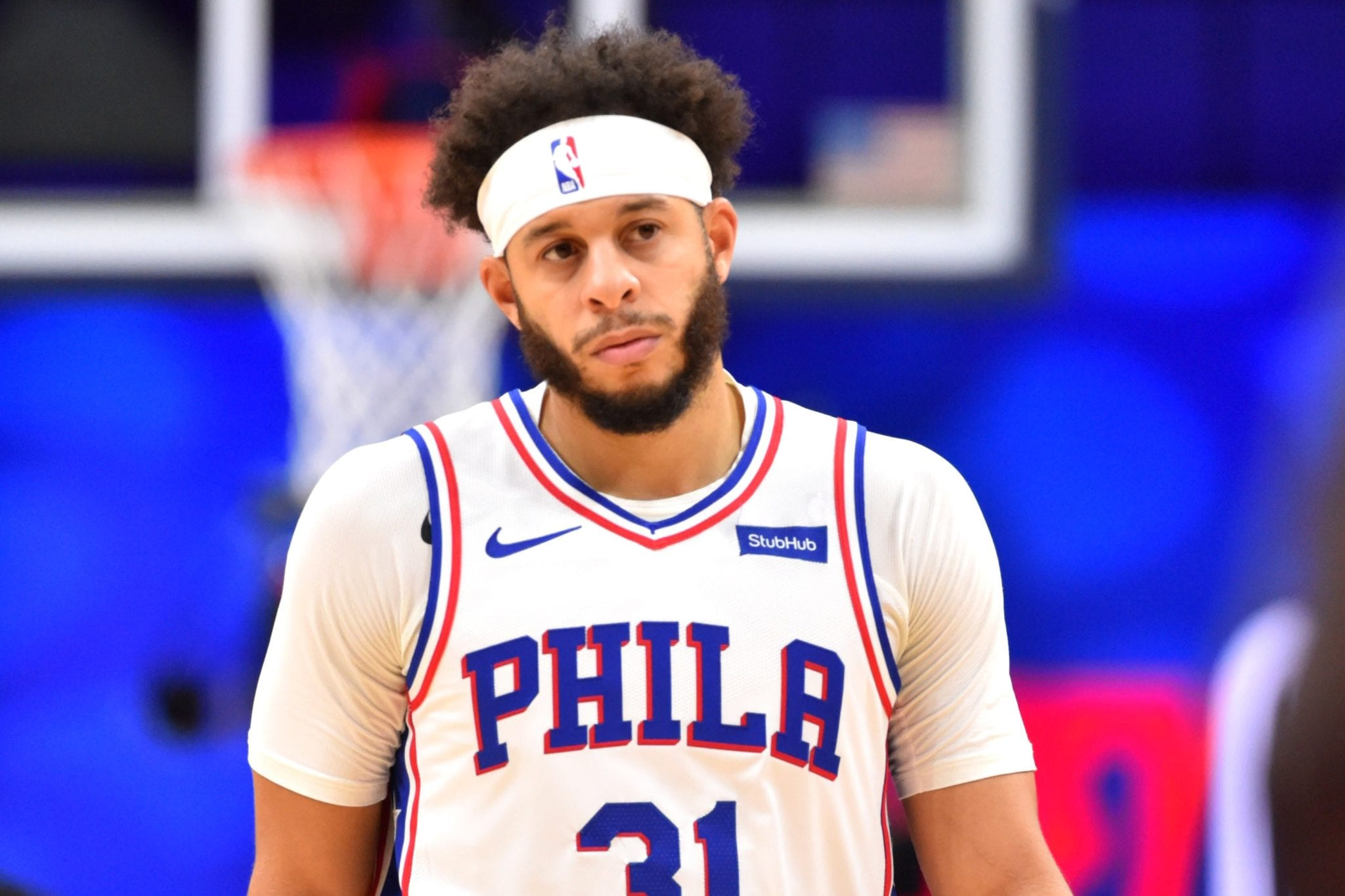 Seth Curry of the Sixers
