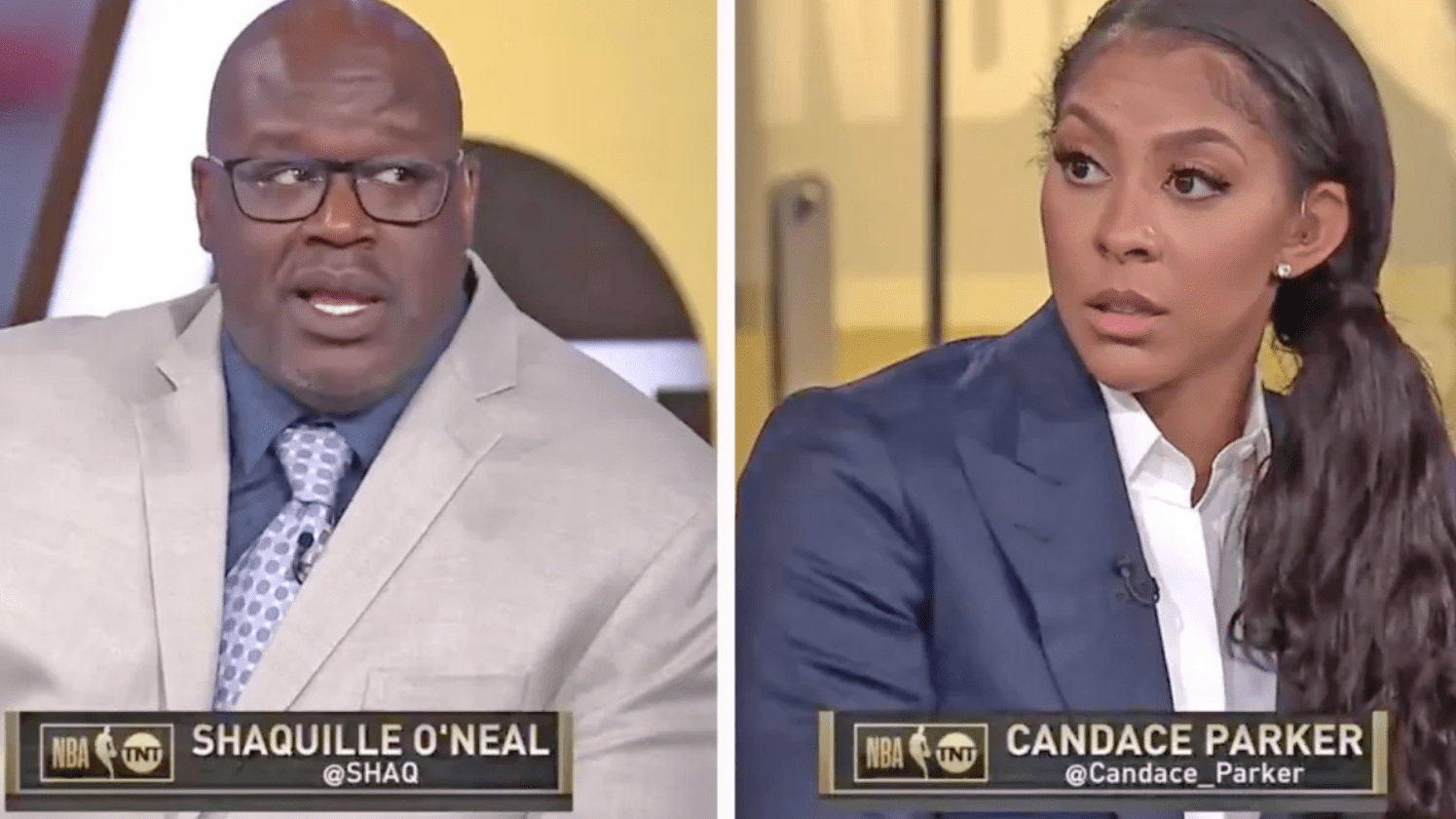 Candace Parker Made an Absolute Fool of Shaq on Live Television