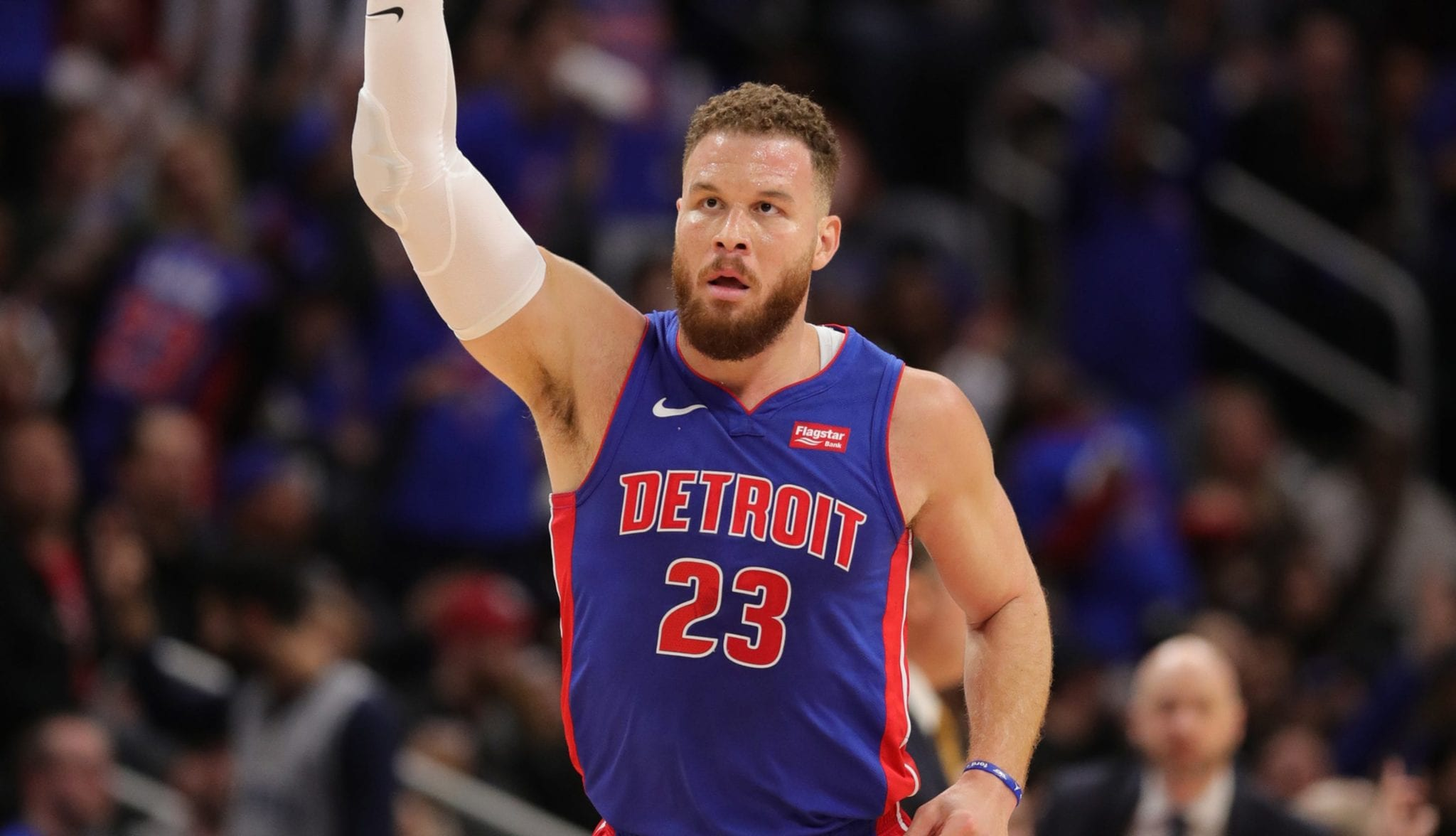 Blake Griffin as a member of the Pistons