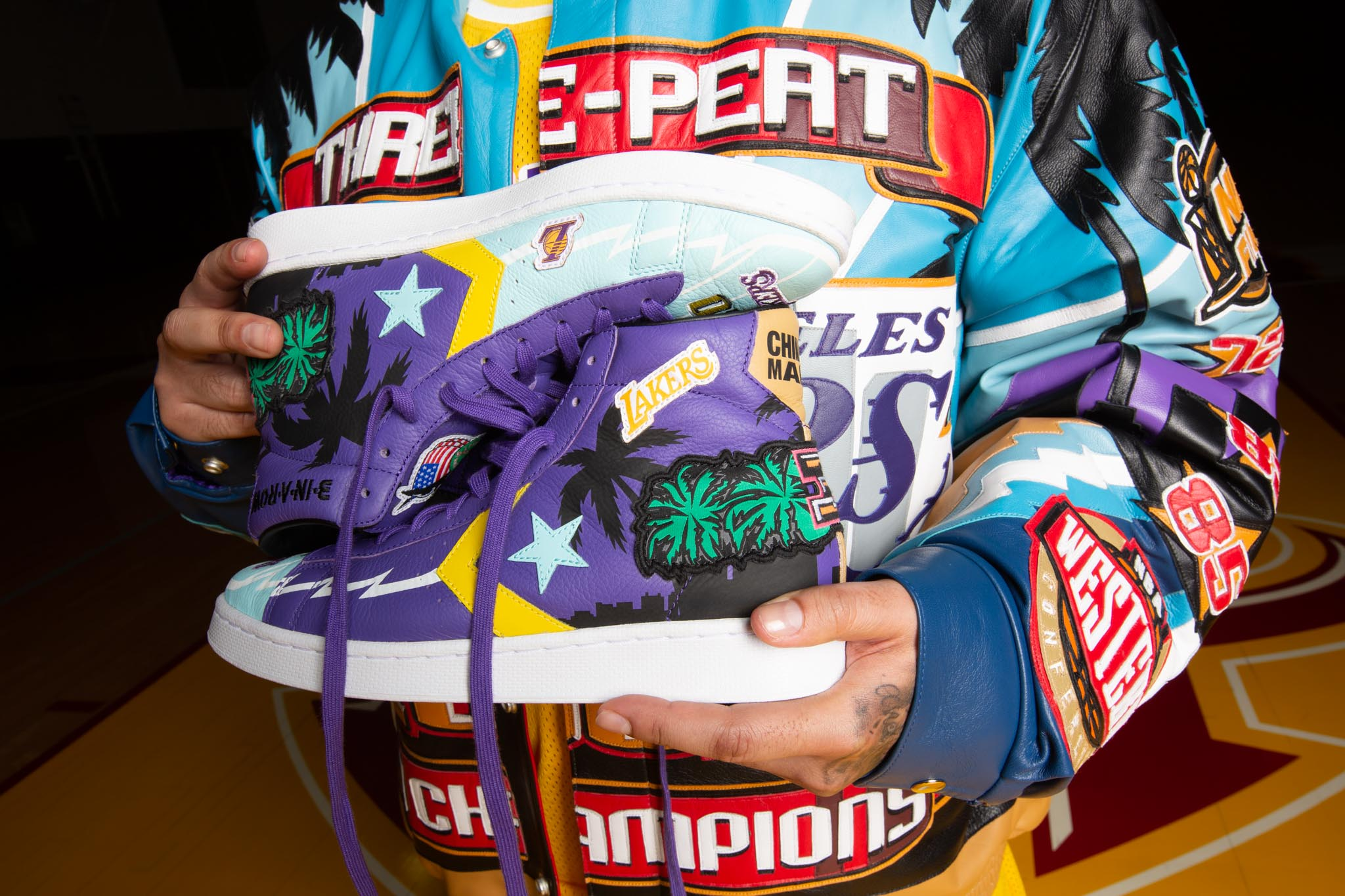 Iconic Lakers and Bulls Jacket Designs Land on Converse's Chuck 70 and Pro Leather