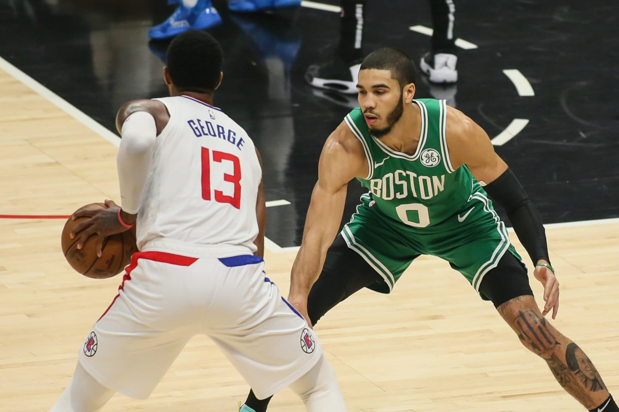 Clippers' Paul George, Celtics' Jayson Tatum Named Players of the Week