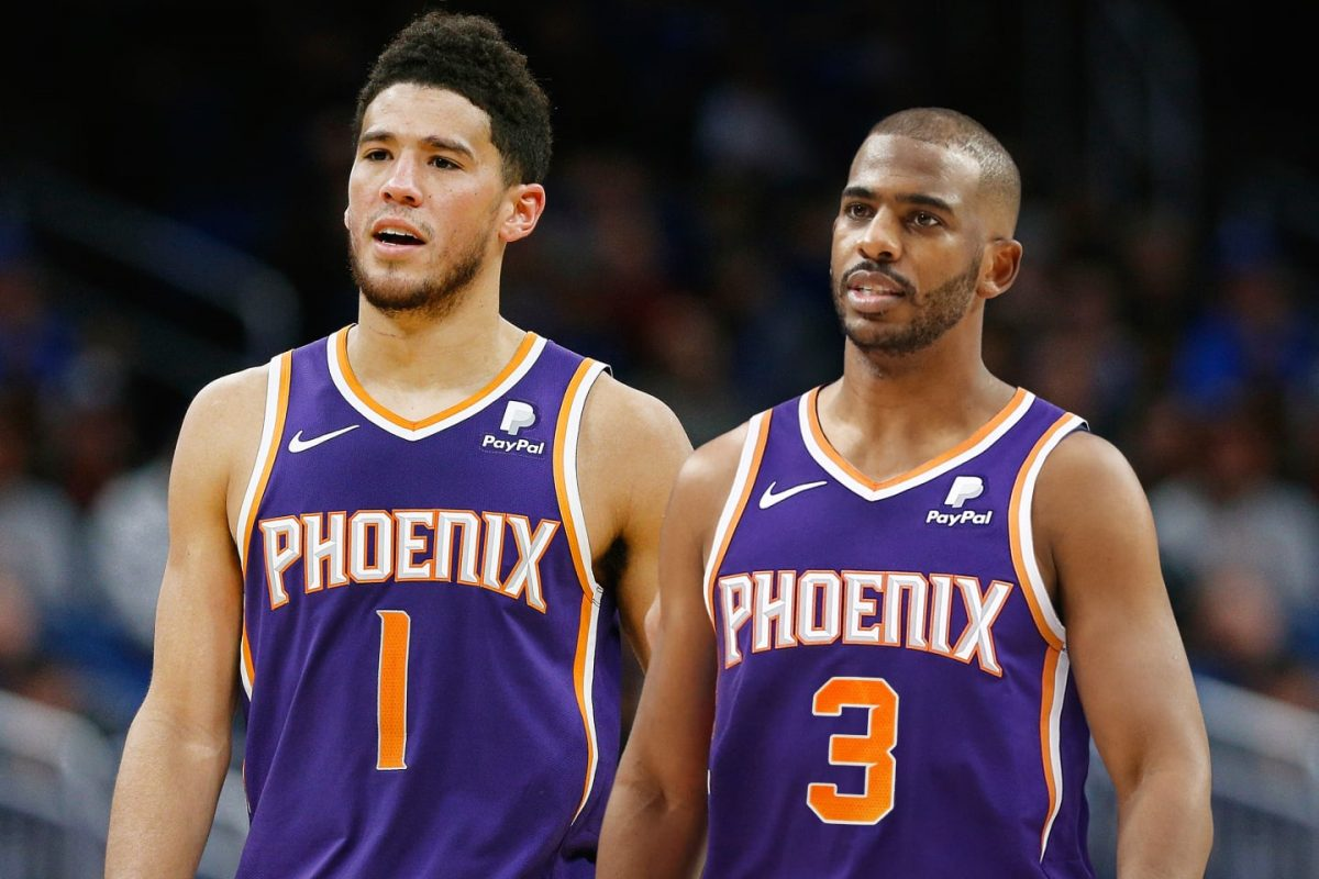 Chris Paul and Devin Booker as Suns Teammates