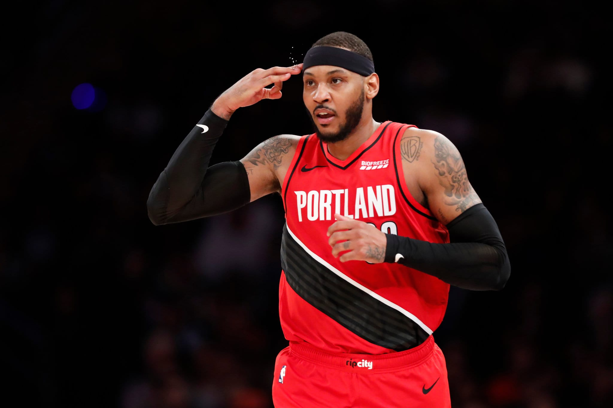 Blazers' Carmelo Anthony Moves Into 10th Place for NBA All-Time Scoring