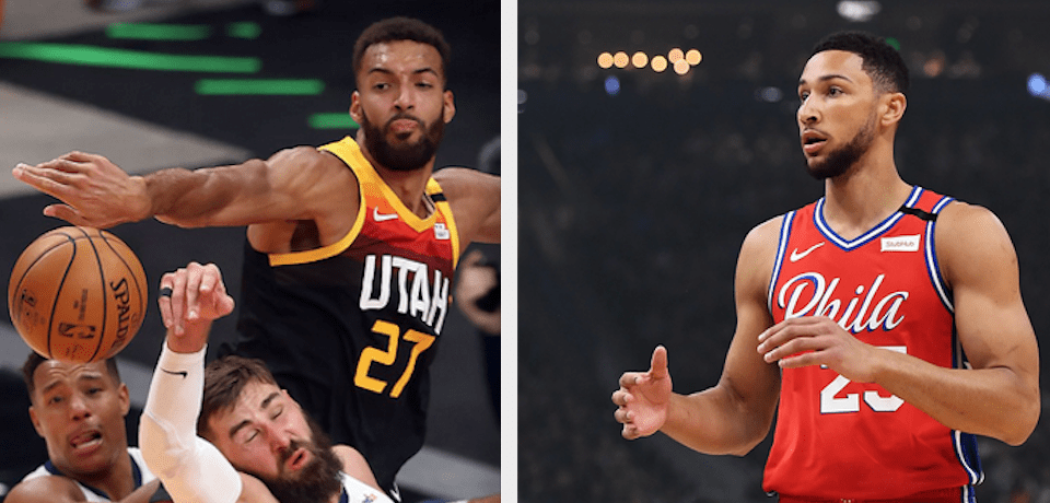Utah's Rudy Gobert and Philly's Ben Simmons Lead NBA All-Defensive Team