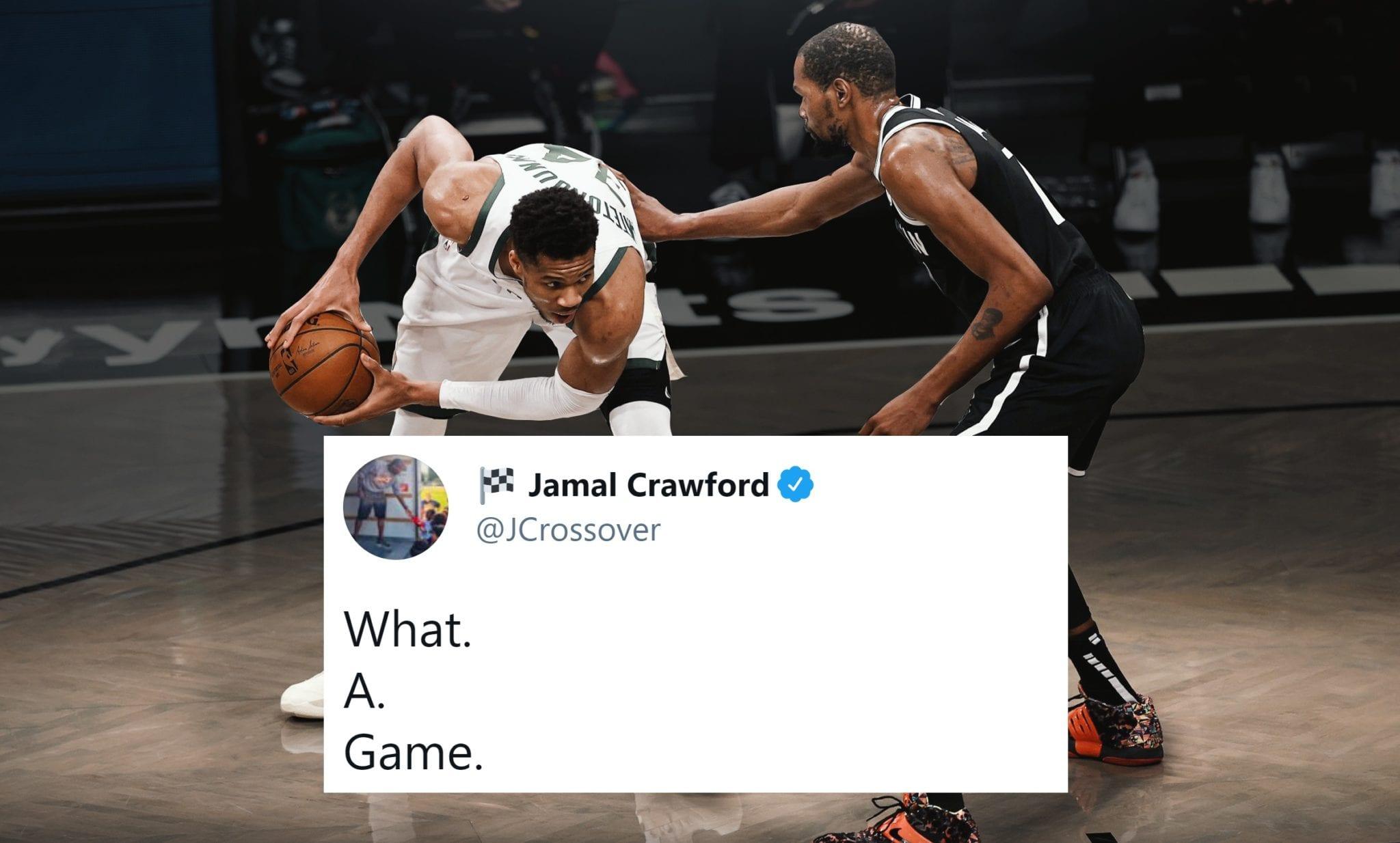 NBA Players React to Bucks-Nets Game 7 Overtime Thriller