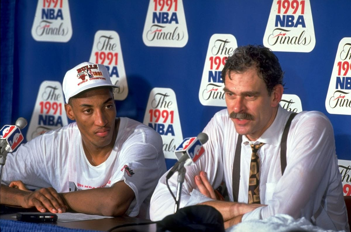 Scottie Pippen with former head coach Phil Jackson