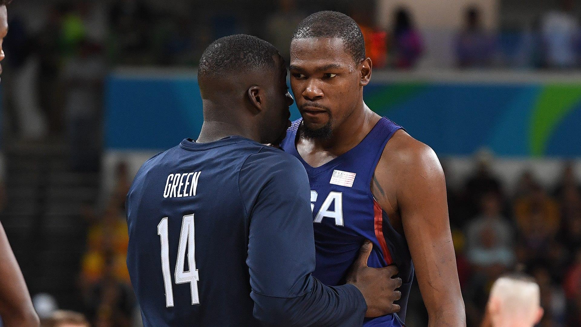 Team USA Basketball Durant and Draymond