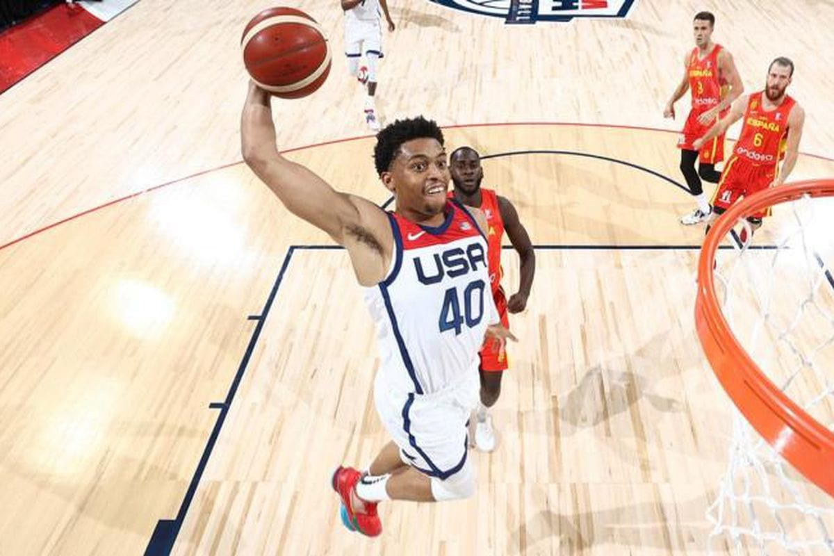 Keldon Johnson Leads Team USA to Victory in Final Exhibition Game