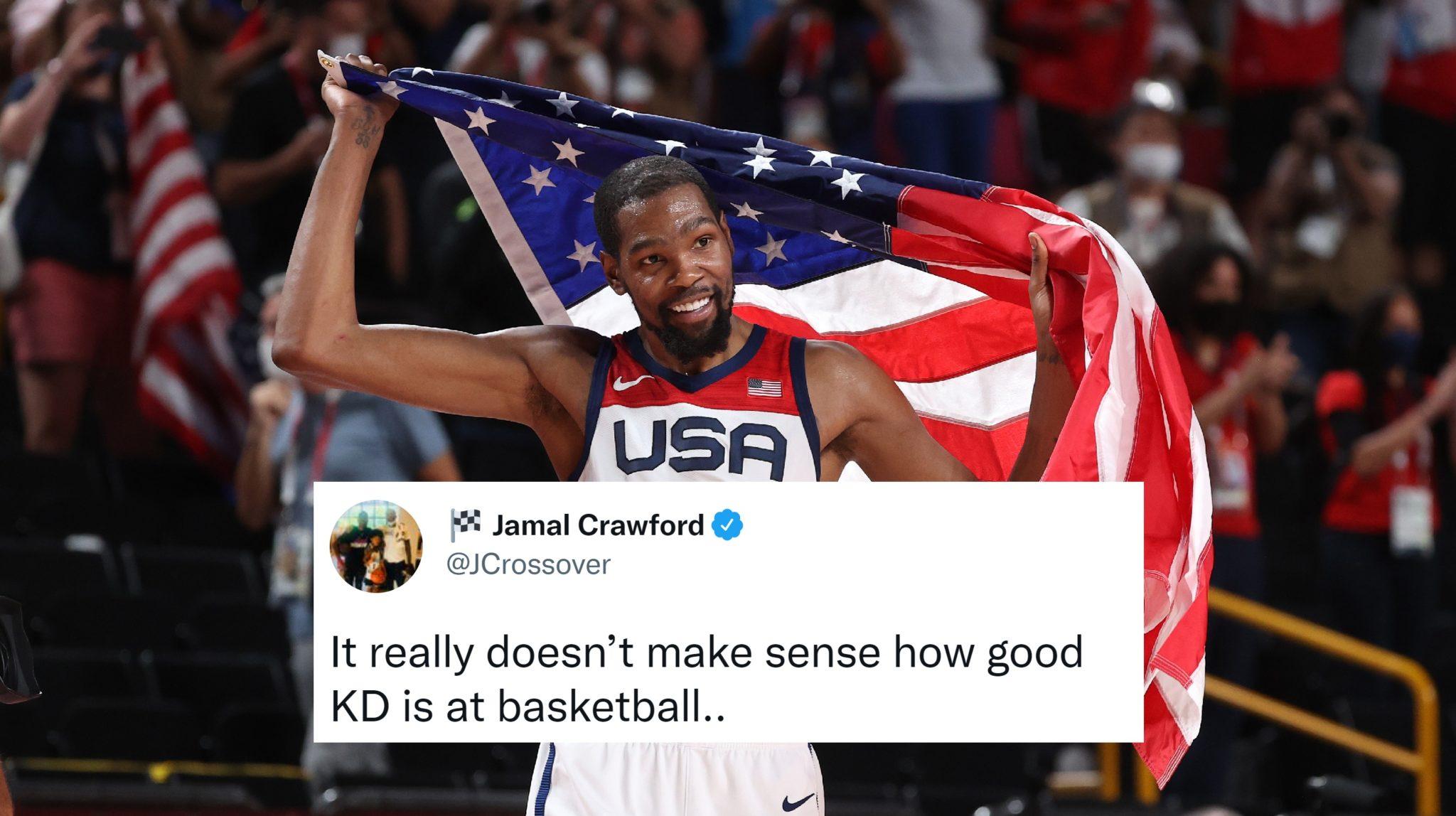 NBA Players React to USA Winning Dramatic Gold Medal Match