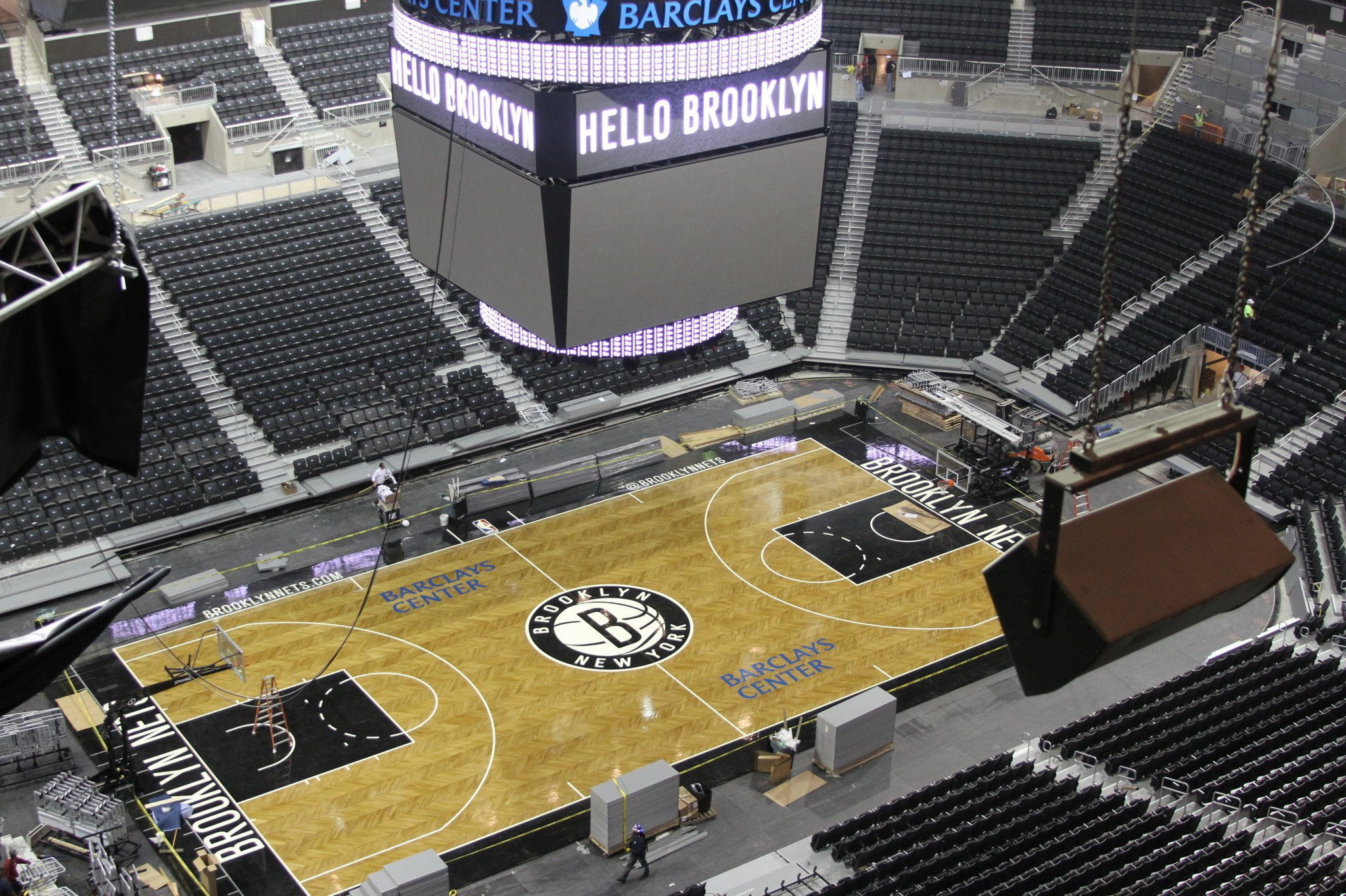 The Barclays Center home of the Brooklyn Nets
