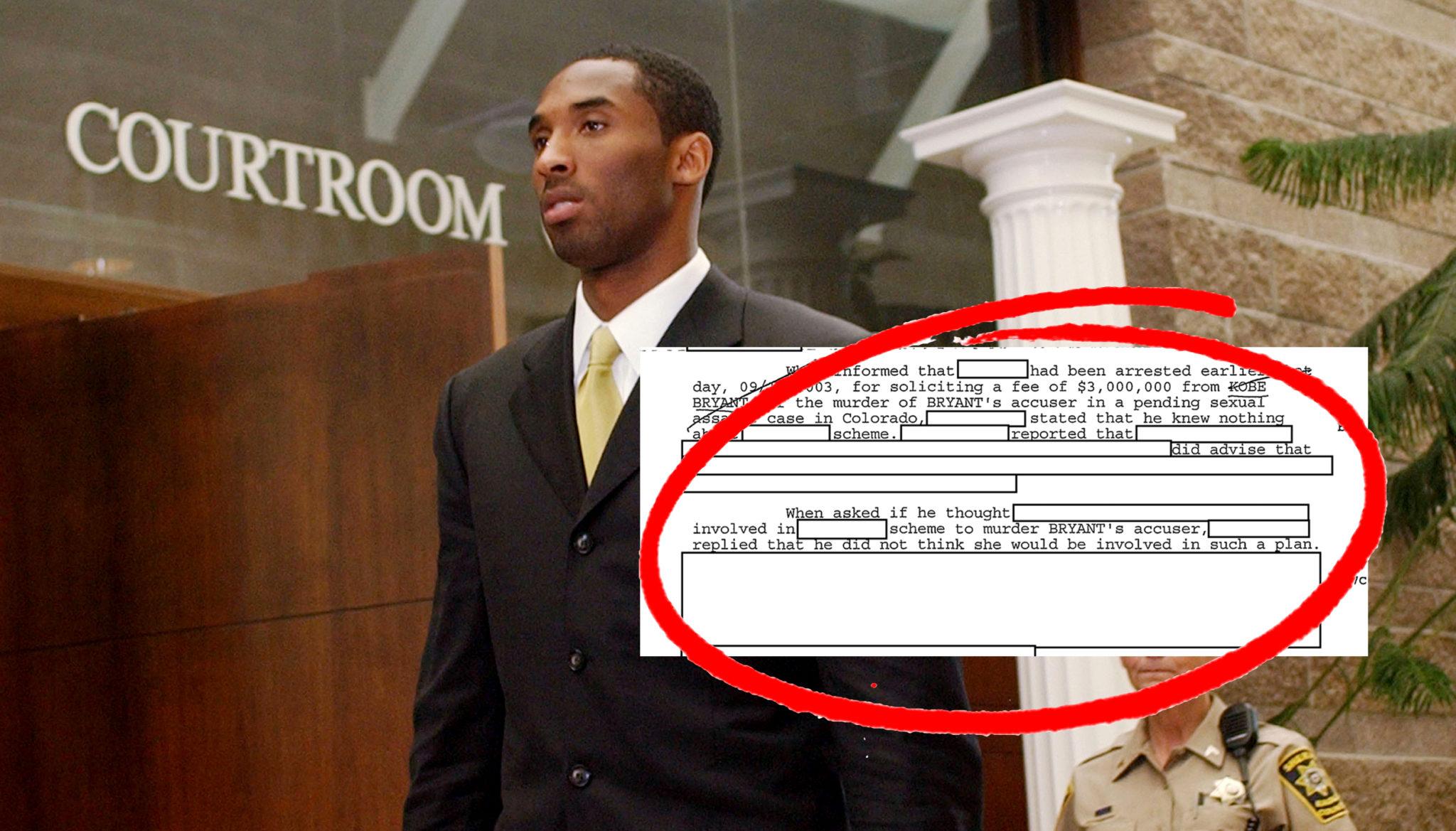 Newly Released FBI Documents Expose A $3M Plot To Kill Kobe Bryant's Rape Accuser