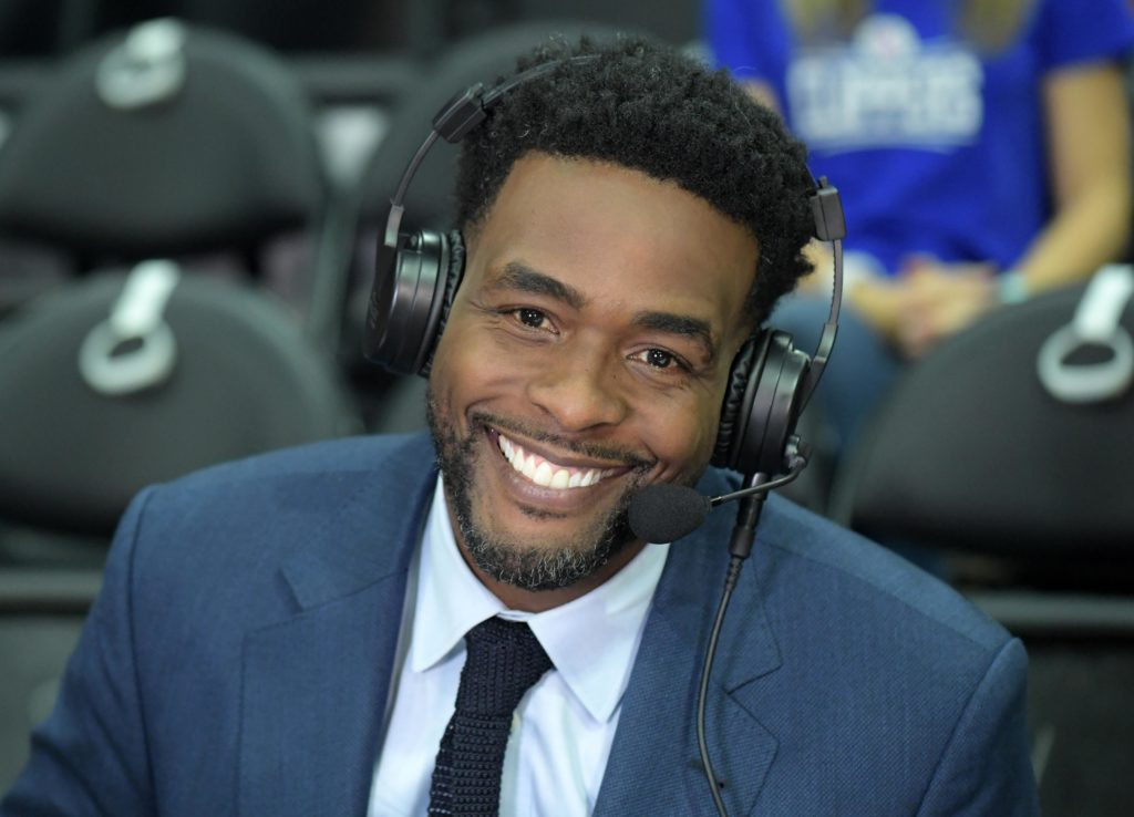 Chris Webber as an announcer