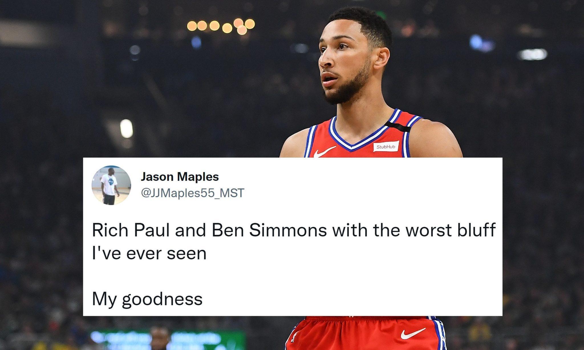 Best Reactions to Latest Twist in Ben Simmons Saga